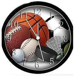 Glow In the Dark Wall Clock - Sports
