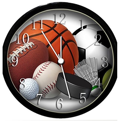 Glow In the Dark Wall Clock - - Sports Wall Clock