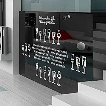 Smncnl Bar Ktv Glastur Glas Englischen Buchstaben Wand Dekor Rabatt