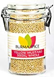 Yellow Mustard Seed : Whole, Dried, Spice, Herb, Seasoning, Indian Cuisine, Kosher (3oz.)