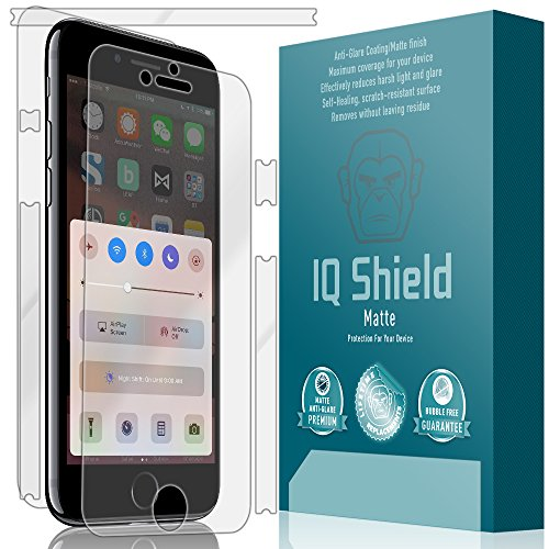 iPhone 7 Screen Protector, IQ Shield Matte Full Coverage Anti-Glare Screen Protector + Full Body Skin for iPhone 7 Bubble-Free Film - with