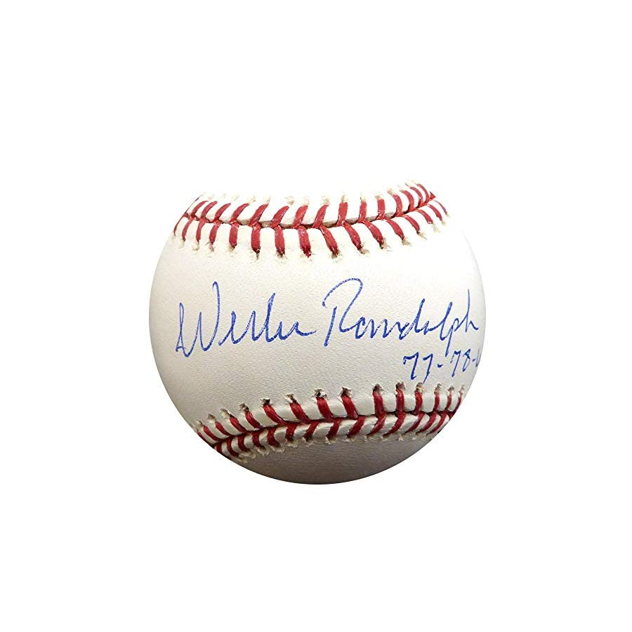 "Willie Randolph Autographed Official MLB Baseball New York Yankees""77 78 WSC"" Stock #112623 Steiner Sports Certified"