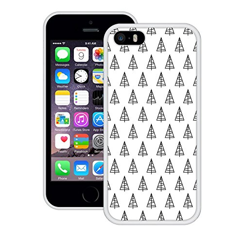 Weihnachtsbäume | Handgefertigt | iPhone 5 5s SE | Weiß TPU Hülle