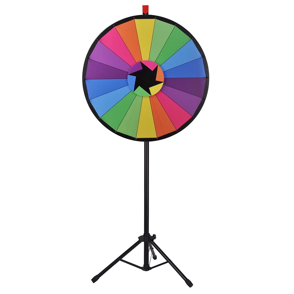 "WinSpinâ""¢ 30'' Editable Color Prize Wheel of Fortune 18 Slot Floor Stand Tripod Spin Game Tradeshow Carnival by WinSpin"