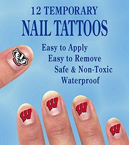 Wisconsin Badgers Colorburst Mini Tattoos School Spirit Sports Theme Parties