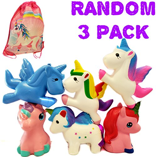 Price comparison product image Unicorn Squishy Squishies Slow Rising Toys Package Jumbo Cheap S Ball Rainbow Set Kawaii the Animal Cute Squishys Pink Magical a Unicorns 3 Pack Big Blue Ice Cream for Kids Giant Scented Girls Stress