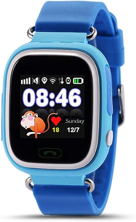 JJSSGGJJSSHH Brazalete Deportivo Q90 Smart Watch Kids SOS Reloj ...