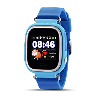 JJSSGGJJSSHH Brazalete Deportivo Q90 Smart Watch Kids SOS ...