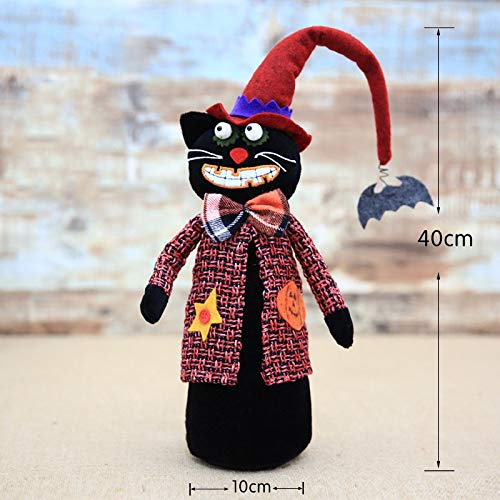 Gold Happy Halloween Plush Soft Toy Spoof Whimsy Decor Home Decoration Doll Halloween Party Gift