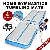 Z-bond 10'x3′ Inflatable Air Track Tumbling Mats Tumbling Floor Mat Gymnastic Air floor Mat Air Box Home Edition