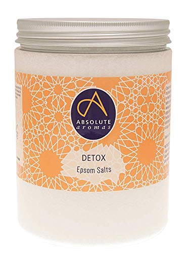 Absolute Aromas Detox Epsom Bath Salts 1150g – Magnesium Sulphate Infused with 100% Pure Essential Oils – Juniperberry…
