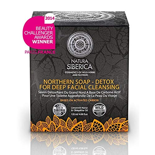 (Natura Siberica Northern Detoxifying Soap With Charcoal For A Deep Purifying Effect 120G (Natura Siberica) by Natura Siberica)