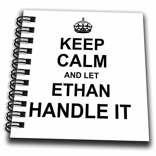 Ethan Design (3dRose InspirationzStore Name design - Keep Calm and Let Ethan Handle it - funny personal name - Mini Notepad 4 x 4 inch (db_233252_3))