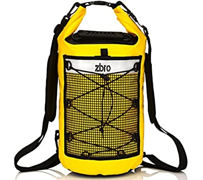 ZBRO Dry Bag ~ Unique Waterproof Bag with Two Additional Pockets ~ Fits in a Bag or Backpack ~ Keeps Gear Dry for Rafting, Kayaking, Boating ~ Floating ~ Protection Against Water, Dust And Dirt