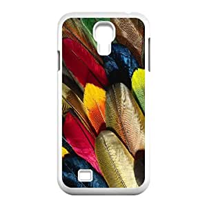 Diy Colorful Peacock feather Phone Case for samsung galaxy s4 White Shell Phone JFLIFE(TM) [Pattern-1] by runtopwell