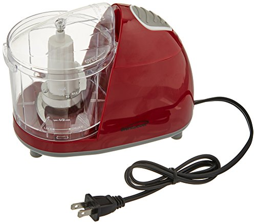 Brentwood MC-105 1.5-Cup Mini Food Chopper, Red