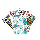 Modern Art Aquamarine Flowers Plants Poker Playing Cards Tabletop Game Gift