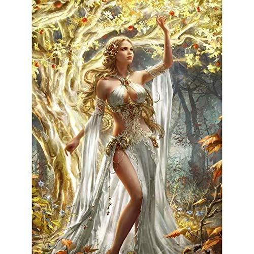 DIY 5D Diamond Painting by Number Kit,Sexy Lady Crystal Rhinestone Arts Craft Canvas Wall Decor 14x20 Inch