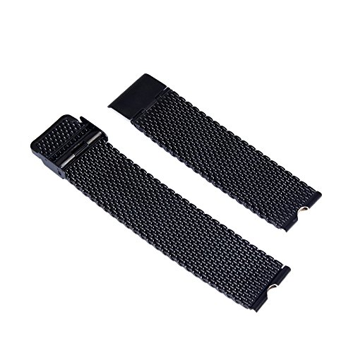 Happy Hours® Specially Deaigned for Motorola Moto 360 Smartwatch Moto360 Stainless Steel Watch Band Watchband Strap Bracelet Watchband Strap + Installation Tools Set, Black