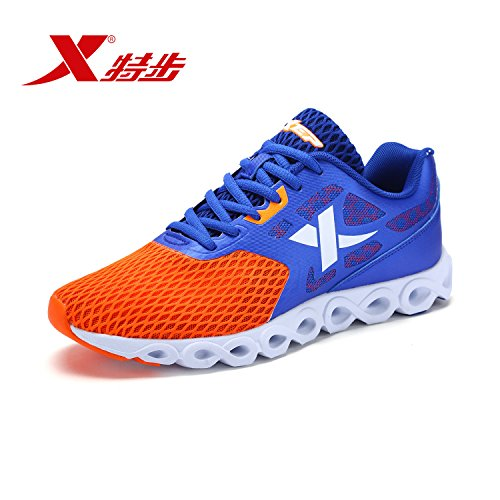 XTEP Mens Running Shoes Breathable Athletic Sports Shoes (Blue) - 1