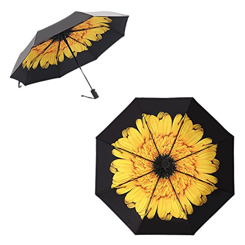 Borje Travel Anti-UV Automatic Folding Umbrella with Sunscreen Function