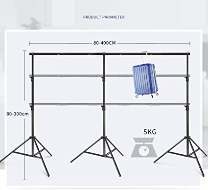 BNSDMM Professional 3x4m Adjustable Portable Heavy Duty Photo Studio Backdrop Background Support System Stand