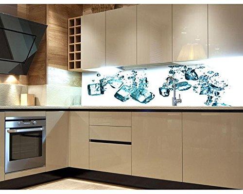 Küchenrückwand Folie selbstklebend EISWÜRFEL 260 x 60 cm ...