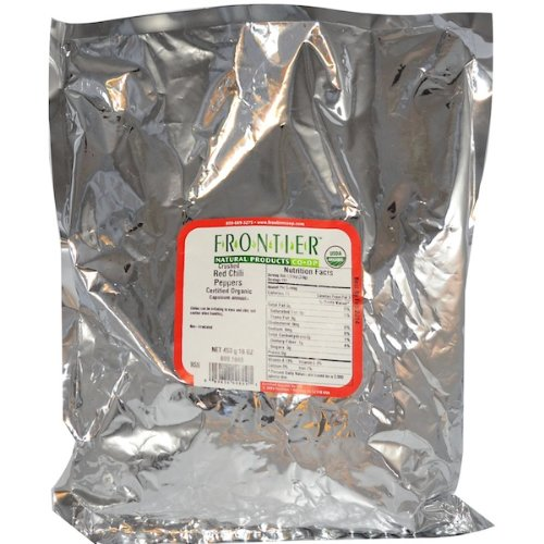 Frontier Natural Products Organic Red Chili Pepper Flakes Crushed -- 1 lb