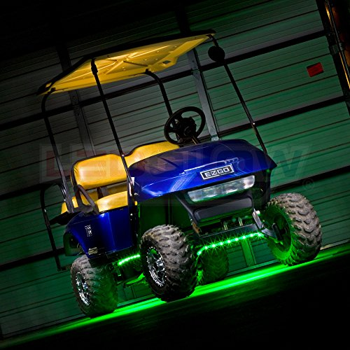 Ledglow 4pc Million Color Led Golf Cart Underbody