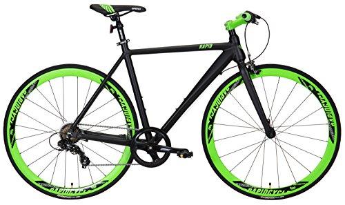 RapidCycle Evolve 7 Speed Aluminum Flat Bar Urban Bike 700CC