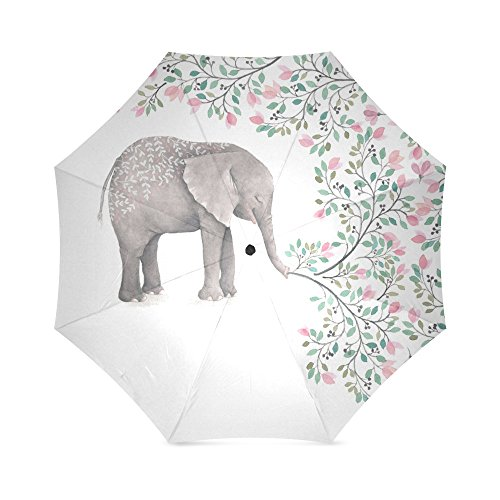 (Umbrella Elephant Custom Umbrella, Folding Umbrella Rainproof & Windproof)
