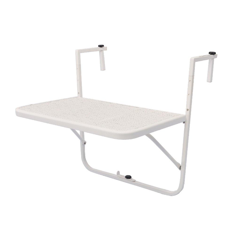 LXLAバルコニー手すりテーブル折りたたみ式壁掛けデスク壁掛け式落葉式レジャーテーブルキッチン食卓 (色 : 白) B07DVLT88P 白 白