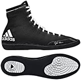 adidas Men's Adizero Wrestling XIV Wrestling Shoes, Black/White/White, 4 M US