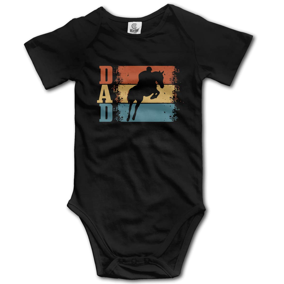 Dad Vintage Horse Riding Baby Boys Comfortable 100/% Cotton Short-Sleeve Bodysuit