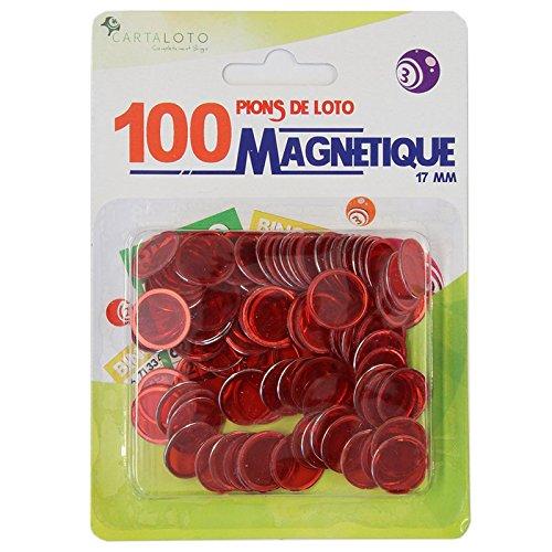100 pions de loto magnétiques (ORANGE) CARTALOTO PMGJCJO