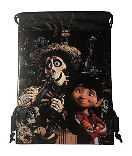 Disney Coco Drawstring Backpack (Black Hector Miguel)