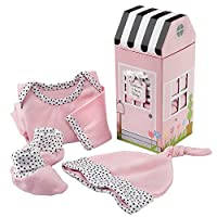 Baby Aspen Welcome Home Baby - Juego de regalo para canastilla, 3 piezas, rosado, 0-6 meses