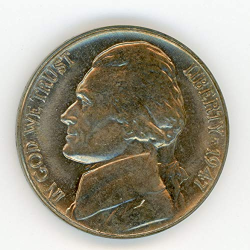 1947 Jefferson Almost Full Steps (80%) Nickel MS-64