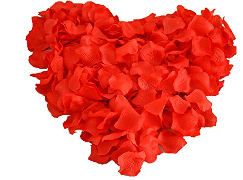 Heart Shaped Red Rose Petals (200 Pc) (1 Pack)
