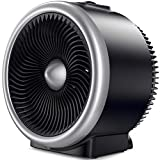 PELONIS PSH700S Space Vortex Heater with Air Circulator Fan, 2 in 1, 900W/1500W, ETL Listed, Auto Tip-Over Shut Off & Overheat Protection for All Seasons & Whole Room, Silver