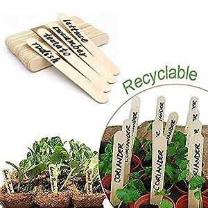 WFWUK Tag Giardino Etichette vegetali Impermeabili Impianto di plastica Ecologico Etichette vegetali per ortaggi… 12 spesavip
