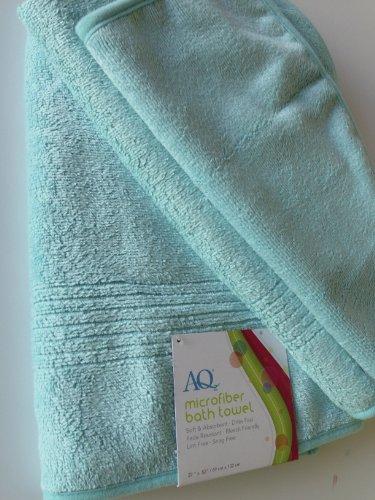Aquis Brushed Microfiber Towel Turquoise product image