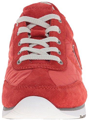Allrounder Di Mephisto Womens Java Sneaker Chili Rosso Scamosciato / Tela Lavata