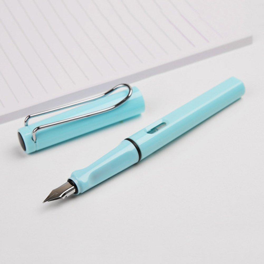 para estudiantes escritura suave color transparente Newhashiqi pluma estilogr/áfica con caligraf/ía bol/ígrafo de punta superfina caligraf/ía color Blanco transparente