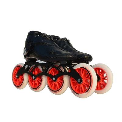 Sljj Speed Skating Shoes 90MM-110MM Adjustable Inline Skates, Straight Skating Shoes (3 Colors) (Color : Red, Size : EU 44/US 11/UK 10/JP 27cm): Home & Kitchen