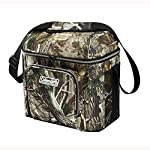Coleman 16-Can Soft Cooler with Removable Liner 4 Holds 16 cans Includes removable hard plastic liner Front zippered pocket, side mesh pockets, mesh pocket in lid, and bungees on lid to hold more gear