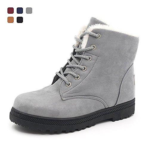 Snow NOT100 NOT100 Sneakers Warm Winter Fur Boots Womens Grey Womens RXFBxXv
