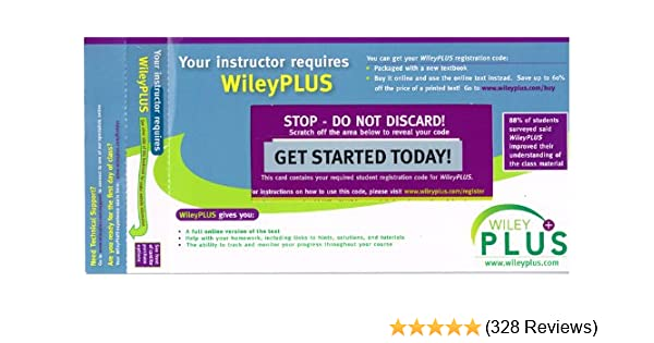 WileyPLUS Stand-Alone Access Code: WileyPLUS Stand-Alone