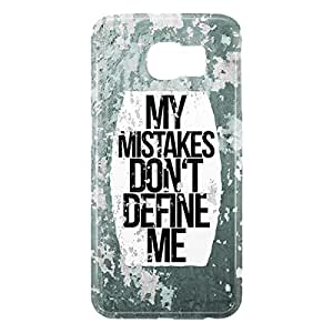Loud Universe Samsung Galaxy S6 3D Wrap Around My Mistakes Dont Define Me Print Cover - Multi Color