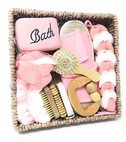 (Spa Gift Basket for Women – Luxury Pink 10 Piece Gift Set - Perfect Gift for Wedding, Anniversary, Birthday, Christmas, Mother's Day, Valentine's Day, Housewarming and Any Other Occasion)